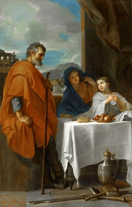 Charles Le Brun -- Holy Family (The Benediction). Part 2 Louvre