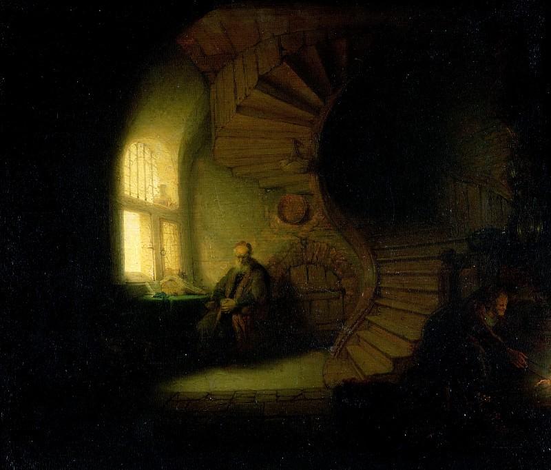 Рембрандт Харменс ван Рейн (1606 Лейден - 1669 Амстердам) -- Размышляющий философ. Part 2 Louvre