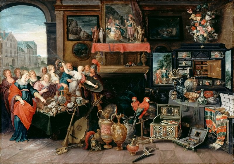 Studio of Frans Francken II -- Ulysses Recognizes Achilles among the Daughters of Lycomedes. Part 2 Louvre