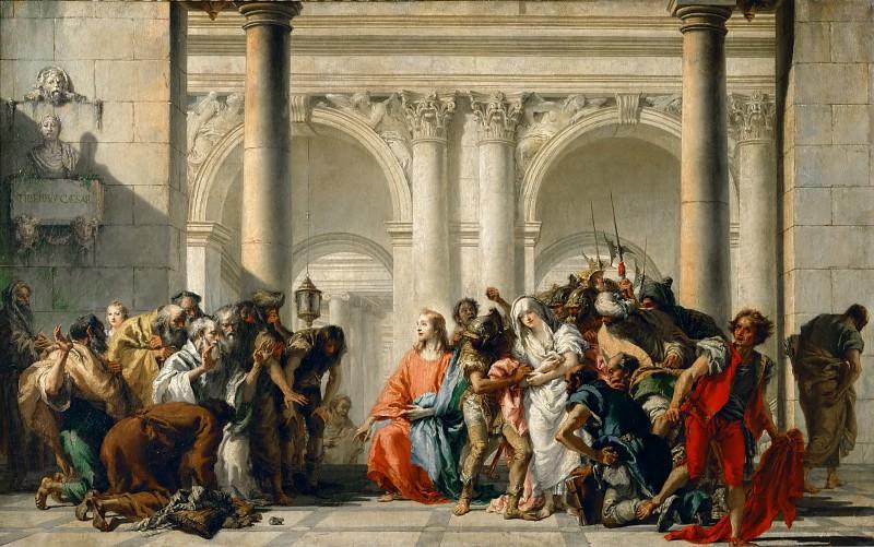 Тьеполо, Джованни Баттиста (1696 Венеция - 1770 Мадрид) -- Христос и грешница, взятая в прелюбодеянии. Part 2 Louvre