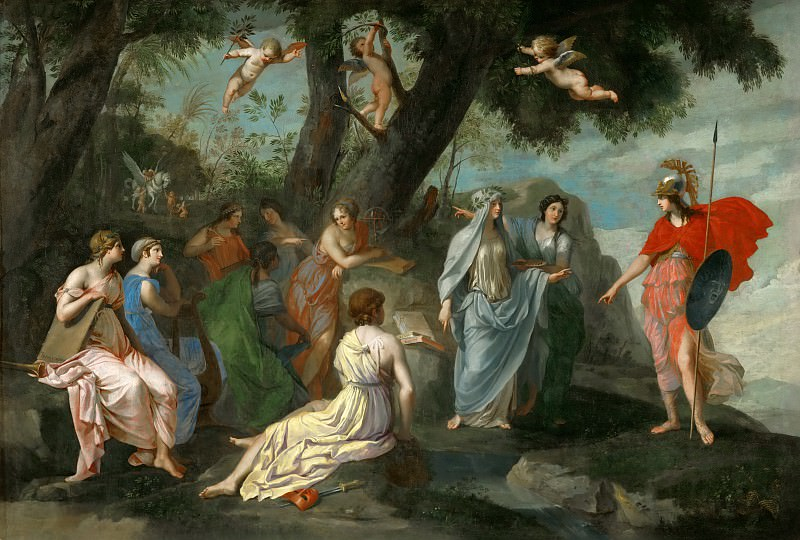 Jacques Stella -- Minerva and the Muses. Part 2 Louvre