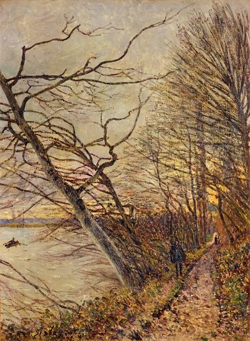Sisley, Alfred -- Le Bois des Roches, Veneux-Nadon, 1880. Canvas, 73 x 54, 5 cm RF 1961-77. Part 2 Louvre