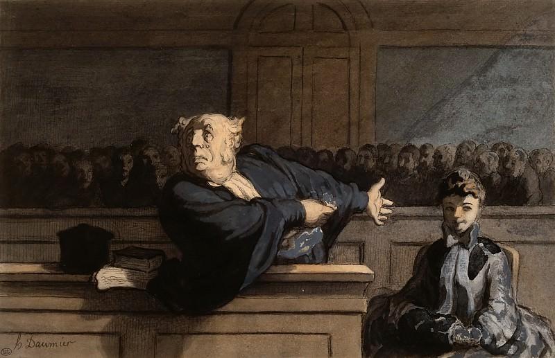 Honoré Daumier -- The Defender. Part 2 Louvre