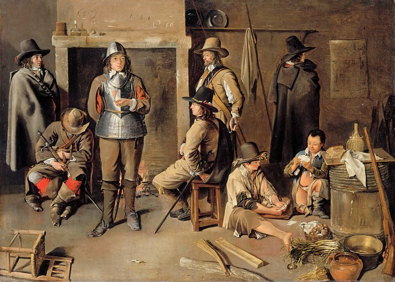 Jean Michelin -- Soldiers resting at an inn. Part 2 Louvre