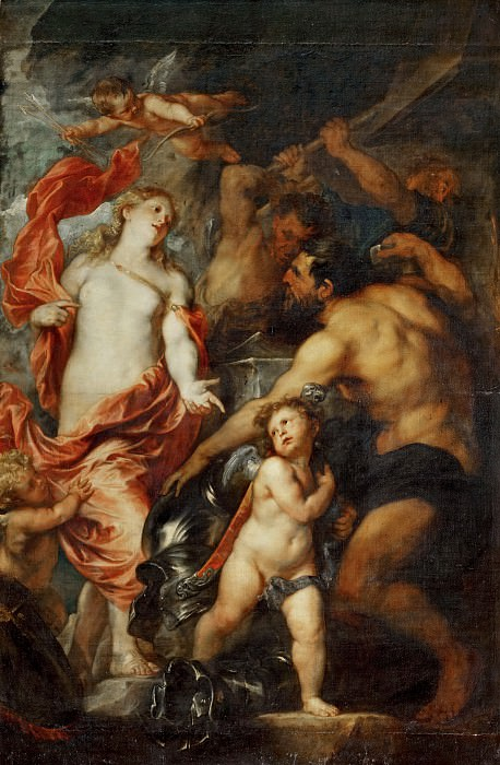 Anthony van Dyck -- Venus at the Forge of Vulcan. Part 2 Louvre