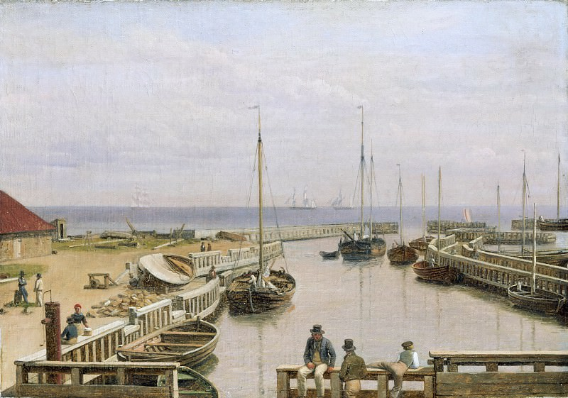 C. W. Eckersberg -- The port of Dragor, Denmark. Part 2 Louvre