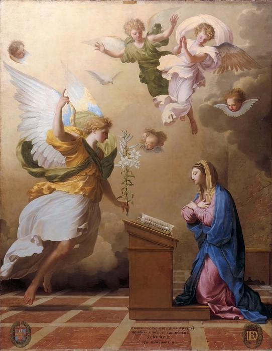 Studio of Eustache Le Sueur -- The Angelic Salutation. Part 2 Louvre