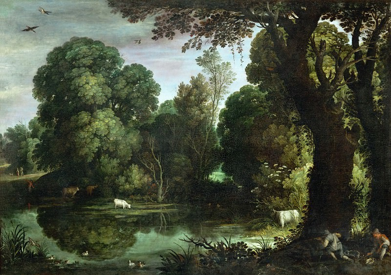 Paul Bril (1554-1626) -- Duck Hunt. Part 2 Louvre