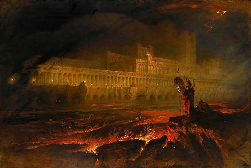 John Martin -- Pandemonium. Part 2 Louvre