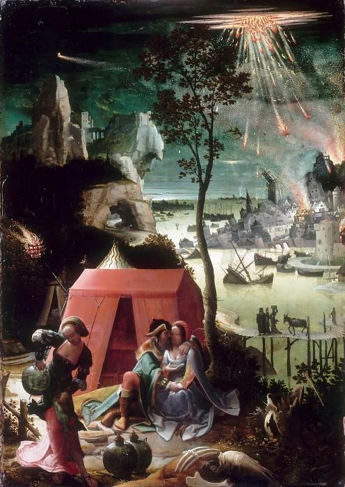 Лейден, Лукас ван (Лейден 1494-1533) -- Лот с дочерьми, ок1520, 48х34. часть 2 Лувр