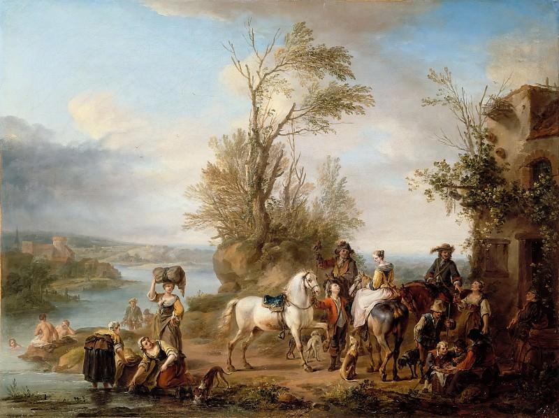 Carel van Falens -- Hunters' Gathering (Rendez-vous de chasse). Part 2 Louvre