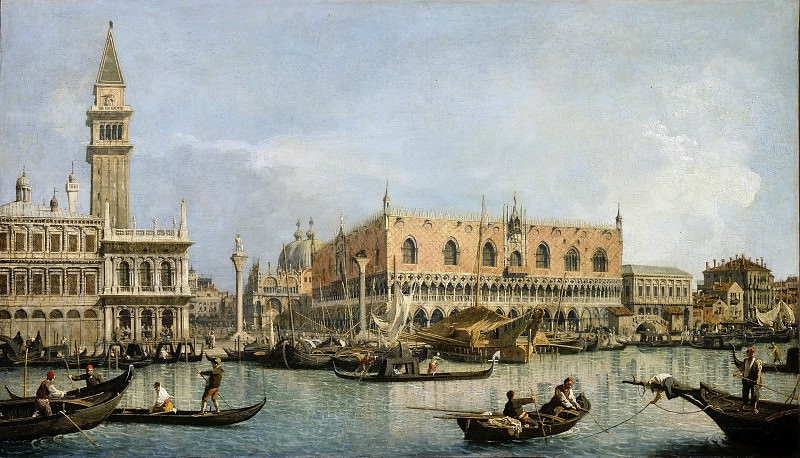 Canaletto -- The Molo, seen from the San Marco Basin. Part 2 Louvre