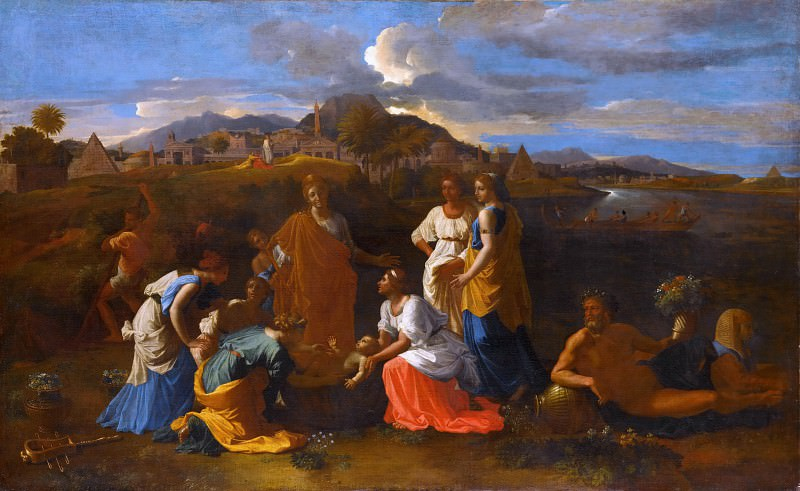 Nicolas Poussin -- Moses saved from the flood. Part 2 Louvre