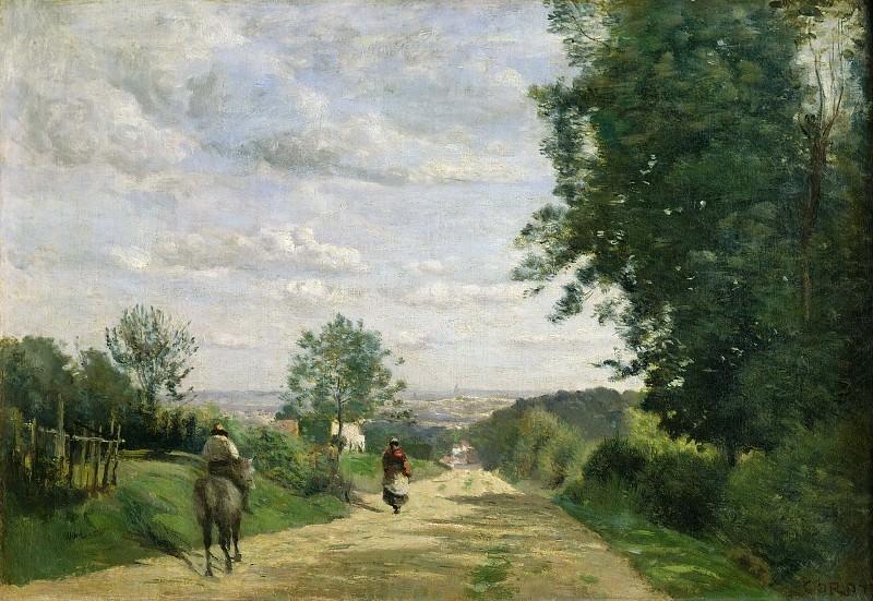 Коро, Жан-Батист-Камиль (Париж 1796-1875) -- Дорога в Севр. Part 2 Louvre