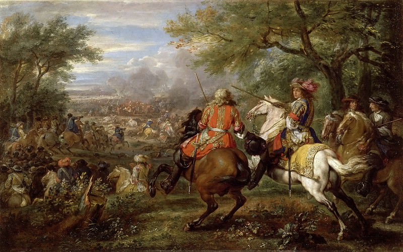 Adam Frans van der Meulen -- Defeat of the Spanish army near the Bruges Canal. Part 2 Louvre