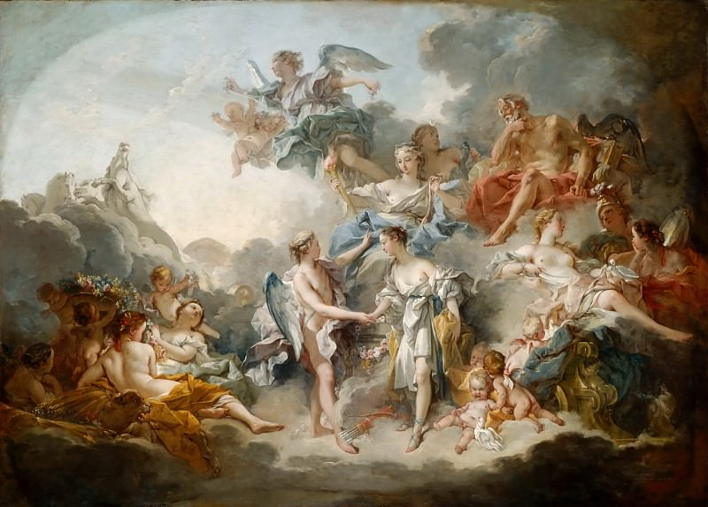 Marriage of Cupid and Psyche. Francois Boucher