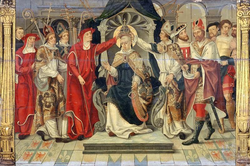 Французская школа -- Интронизация Папы Целестина V в 1294 году. часть 2 Лувр