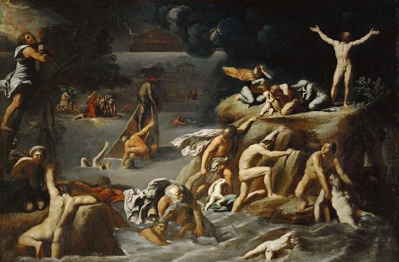 Карраччи, Антонио (1583 Венеция - 1618 Рим) -- Потоп. часть 2 Лувр
