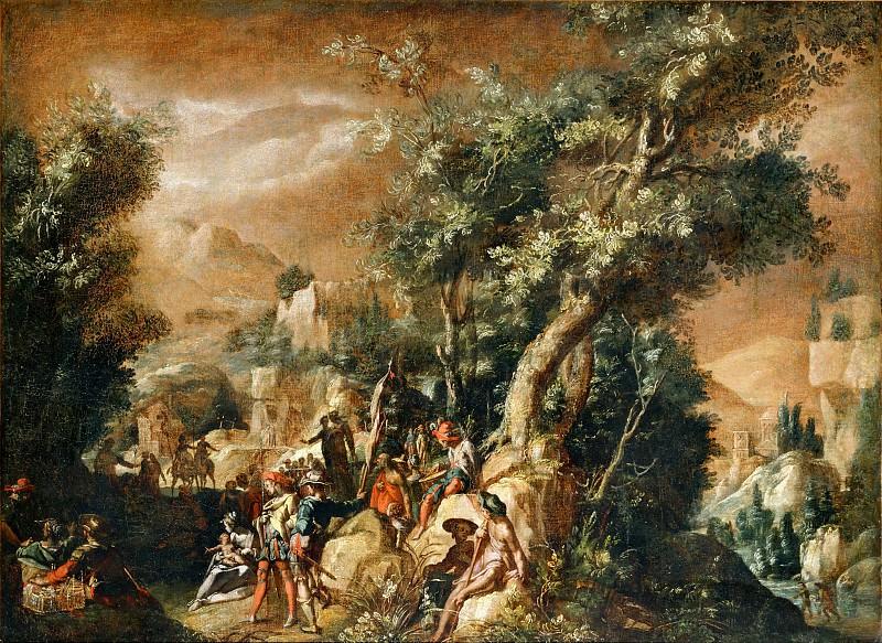 Paul Bril (1554-1626) -- Landscape with Figures. Part 2 Louvre