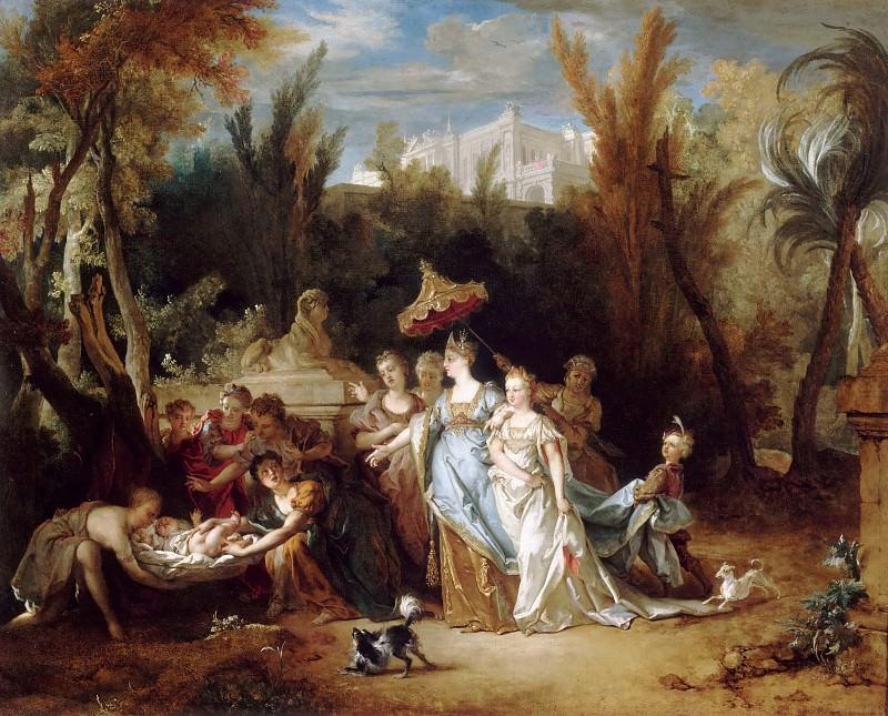Nicolas de Largillière -- Finding of Moses. Part 2 Louvre