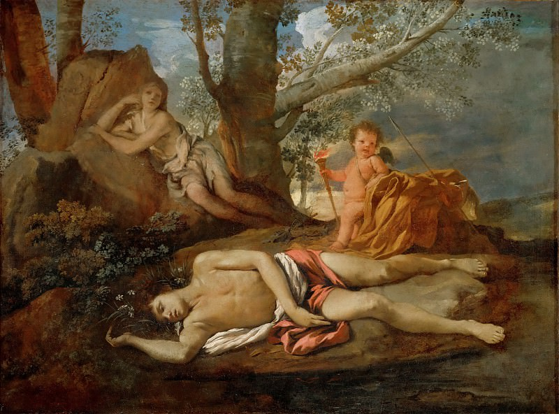 Nicolas Poussin -- Echo and Narcissus. Part 2 Louvre