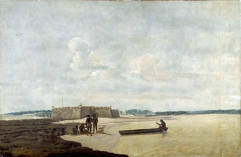 Frans Post -- The ancient Portuguese fort of the Three Wise Kings (or Fort Ceulen), at the mouth of the Rio Grande. Part 2 Louvre