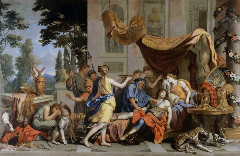 Charles Le Brun -- Death of Meleager. Part 2 Louvre