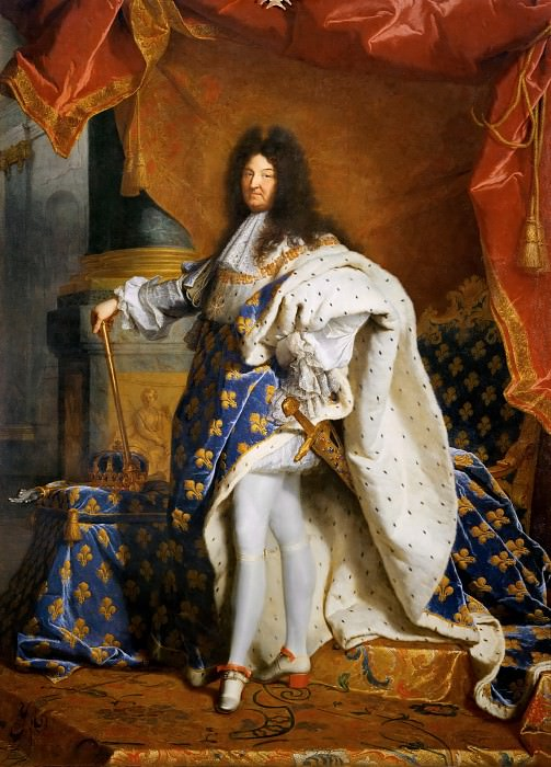 Hyacinthe Rigaud -- Louis XIV, King of France, in Royal Costume. Part 2 Louvre