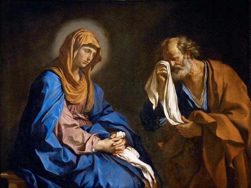 Guercino (1591-1666) -- Saint Peter Weeping Before the Virgin (Saint Peter's Tears). Part 2 Louvre