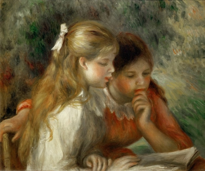 Renoir, Pierre-Auguste -- La lecture-The Reading; 1890-1895 Canvas, 55 x 65, 5 cm R.F.1961-70. Part 2 Louvre