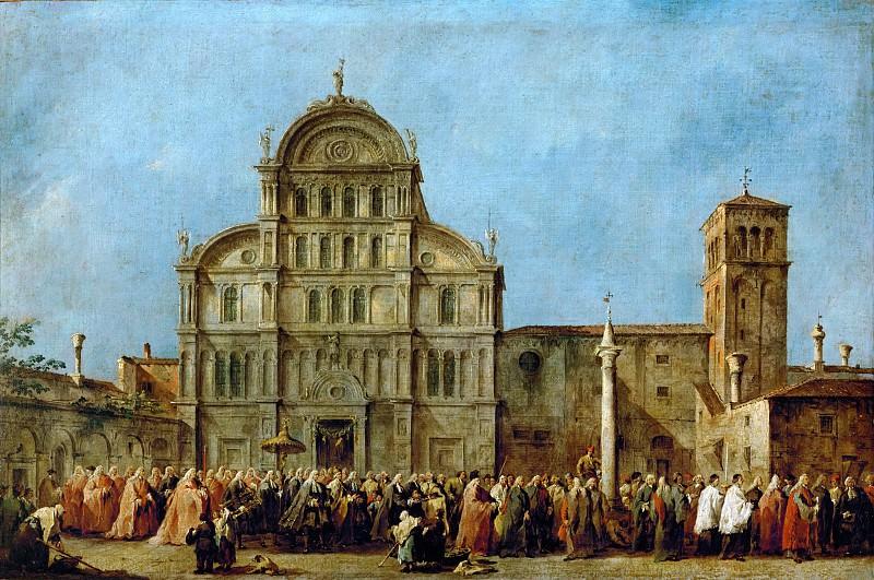 Гварди, Франческо (Венеция 1712-1793) -- Процессия дожей у церкви святого Захария в Венеции. часть 2 Лувр