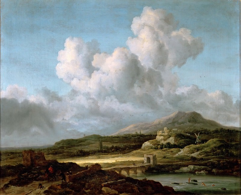 Jacob van Ruisdael (1628 or 1629-1682) -- The Stroke of Sunshine. Part 2 Louvre