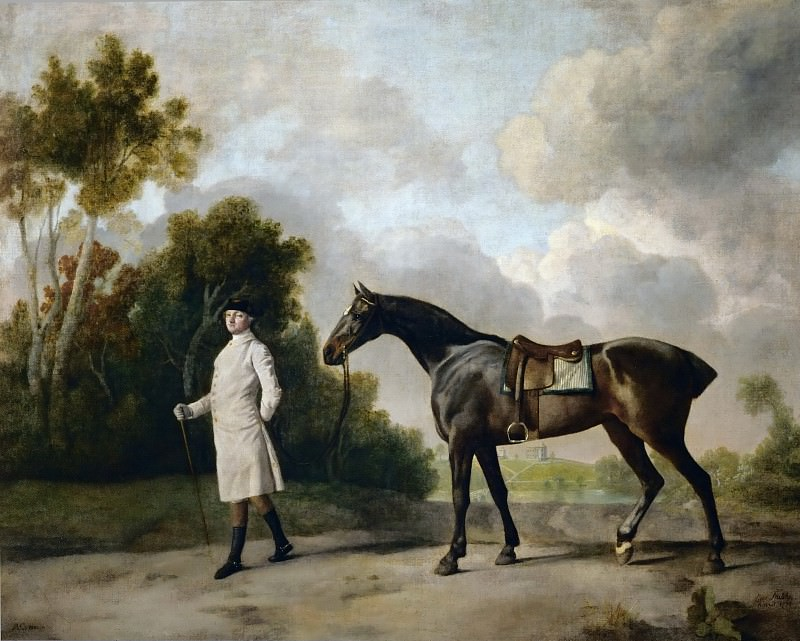 George Stubbs -- Assheton, first Viscount Curzon, and his mare, Maria. Part 2 Louvre