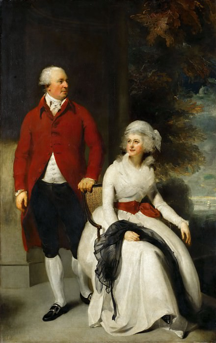 Thomas Lawrence -- Mr. and Mrs. John Julius Angerstein, the Banker and Art Collector, with his second Wife, Eliza Payne. Part 2 Louvre