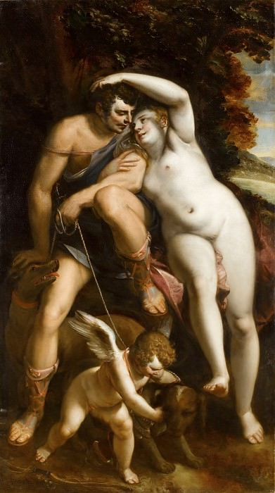 Luca Cambiaso -- Venus and Adonis. Part 2 Louvre
