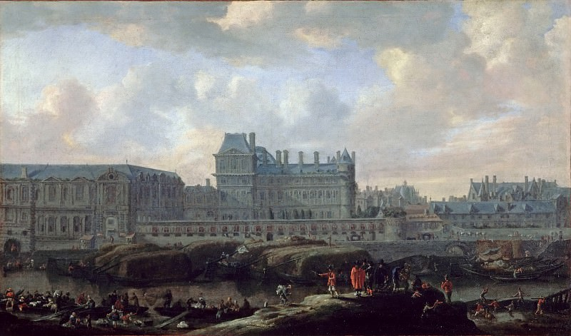 Reinier Nooms -- View of the old Louvre and the Petit Bourbon. Part 2 Louvre