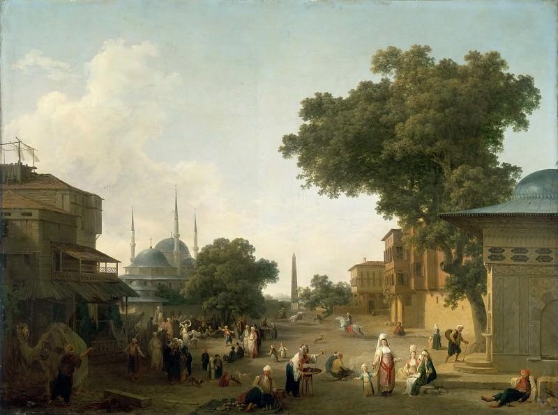 Jean-Baptiste Hilair -- Fête orientale (Istanbul). Part 2 Louvre