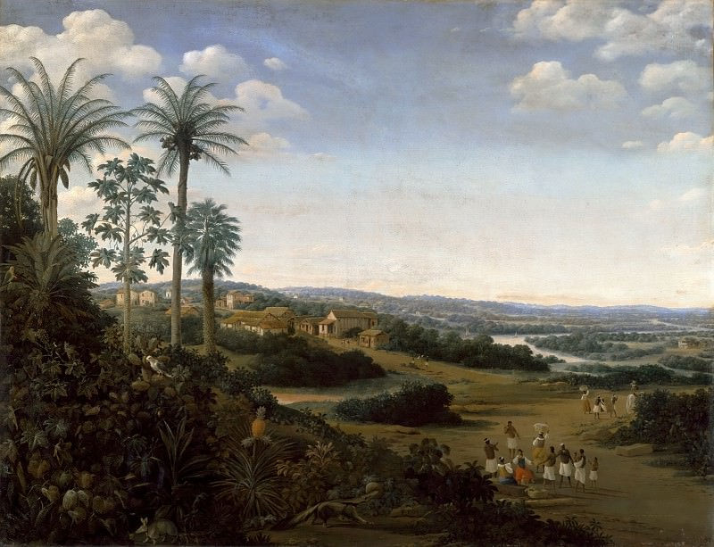 Frans Post -- House of a 'labrador' (planter of sugar cane) in Brazil, formerly called 'The Village of Serinhaem (Pernambouc)'. Part 2 Louvre