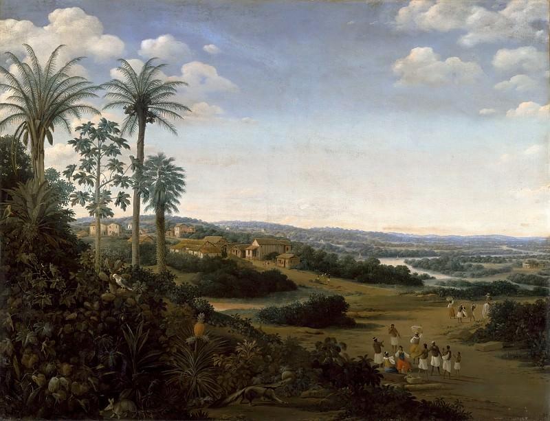 Пост, Франс Янс (1612 Лейден - 1680 Харлем) -- Сахарная плантация Лабрадор в Бразилии. часть 2 Лувр