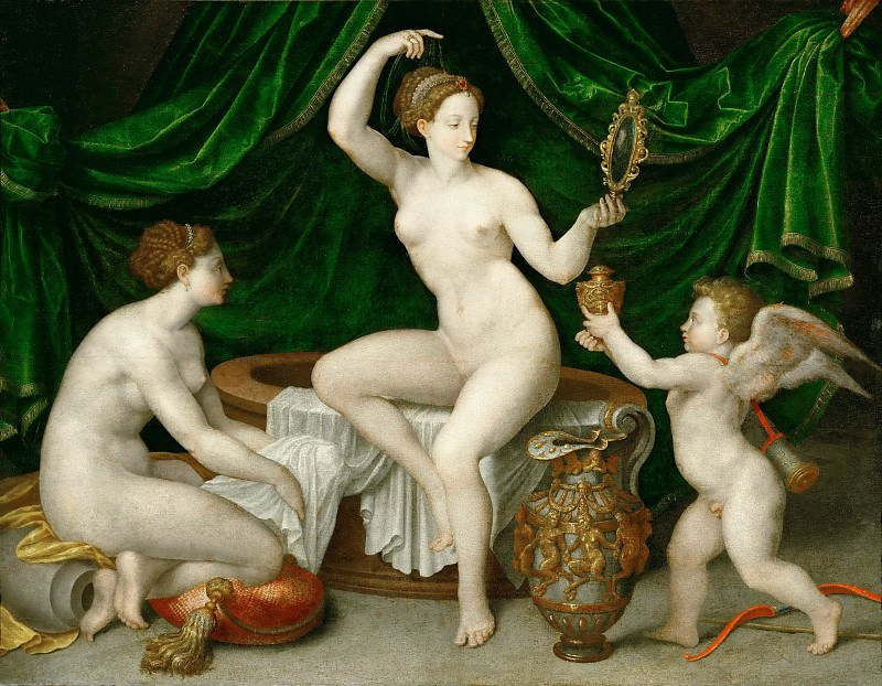 Anonymous, School of Fontainebleau -- Venus at Her Toilette. Part 2 Louvre
