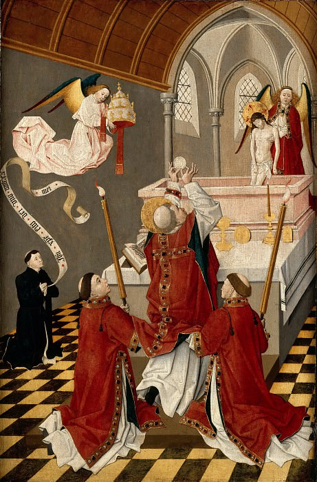 French School, from Burgundy or Amiens?; formerly attributed to the Flemish School, to the School of Picardie -- Mass of Saint Gregory (La Messe de Saint Gregoire). Part 2 Louvre
