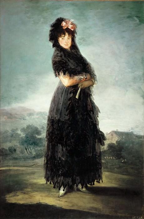 Goya y Lucientes, Francisco Jose de -- Mariana Waldstein, Marquise de Santa Cruz (1763-1808) Canvas, 142 x 97 cm R.F. 1976-69. Part 2 Louvre