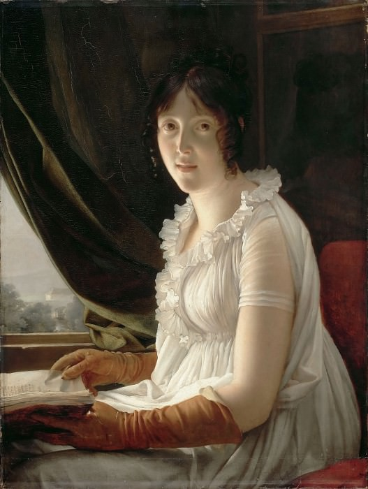 Baron François Gérard -- Madame Barbier-Walbonne, the Artist's Wife. Part 2 Louvre