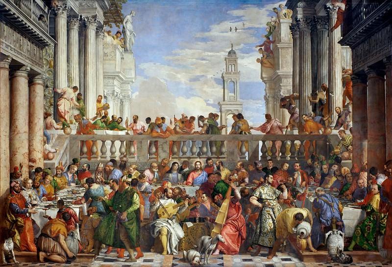 Веронезе (Паоло Кальяри) (Верона 1528 - 1588 Венеция) -- Брак в Кане. часть 2 Лувр