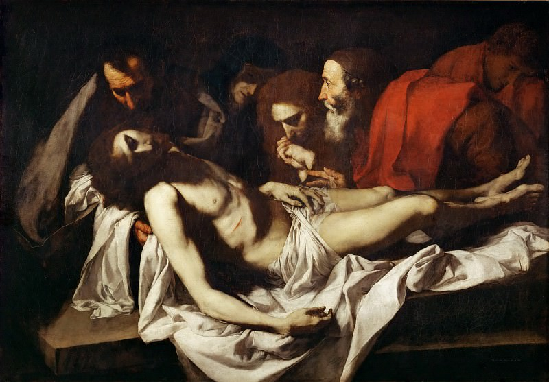Jusepe de Ribera (1591-1652) -- Entombment. Part 2 Louvre