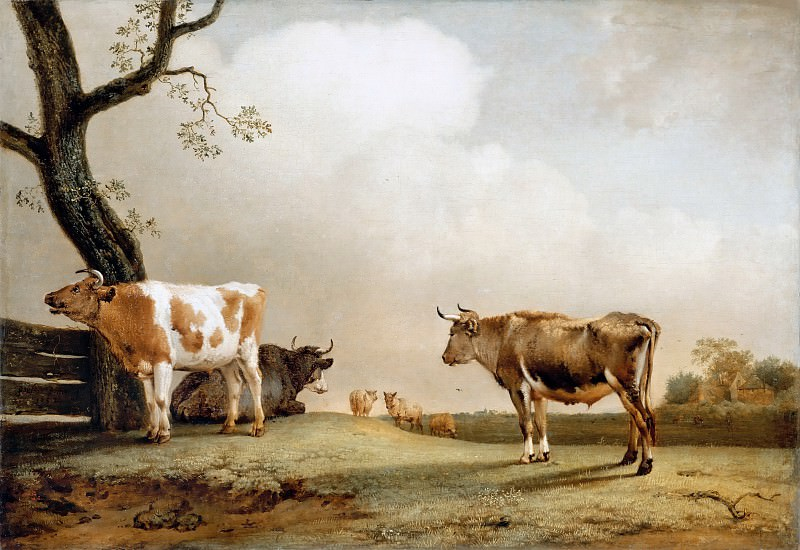 Paulus Potter -- The Prairie. Part 2 Louvre