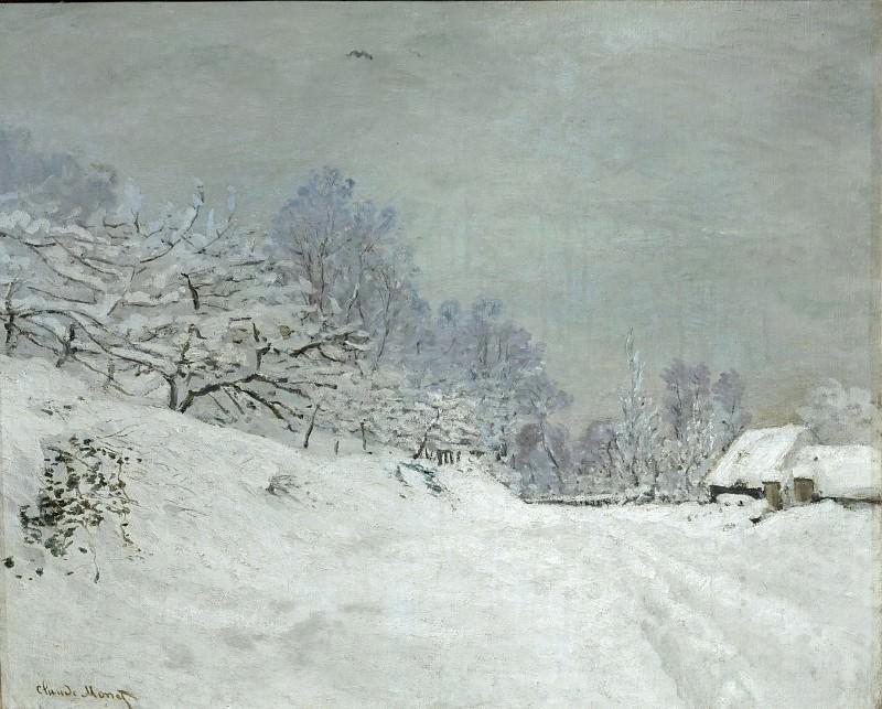 Monet, Claude -- Environs de Honfleur.Neige-Landscape around Honfleur.Snow; around 1867 Canvas, 81, 5 x 102 cm R.F.1961-60. Part 2 Louvre
