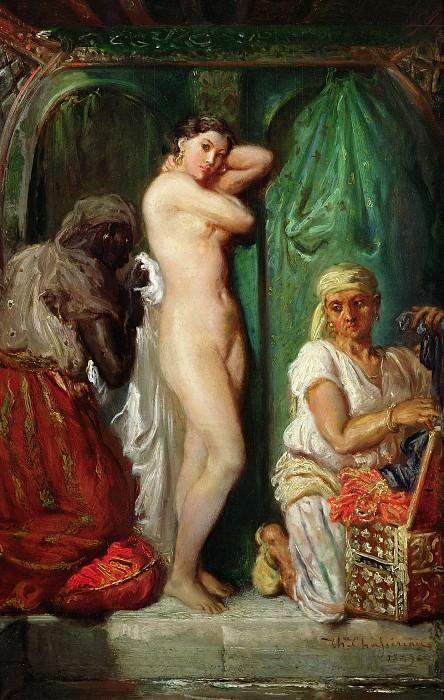 Шассерио, Теодор (1819 Сент-Барб-де-Самана - 1856 Париж) -- Купальня в гареме. часть 2 Лувр