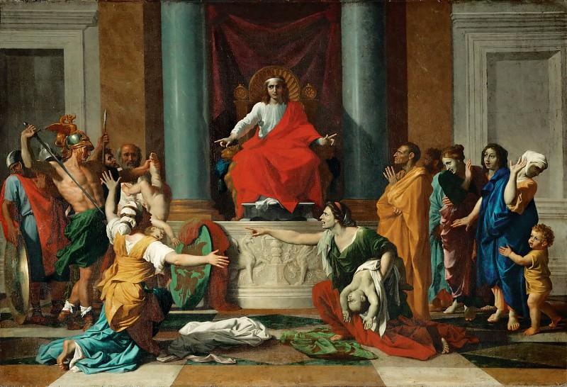 Judgment of Solomon. Nicolas Poussin