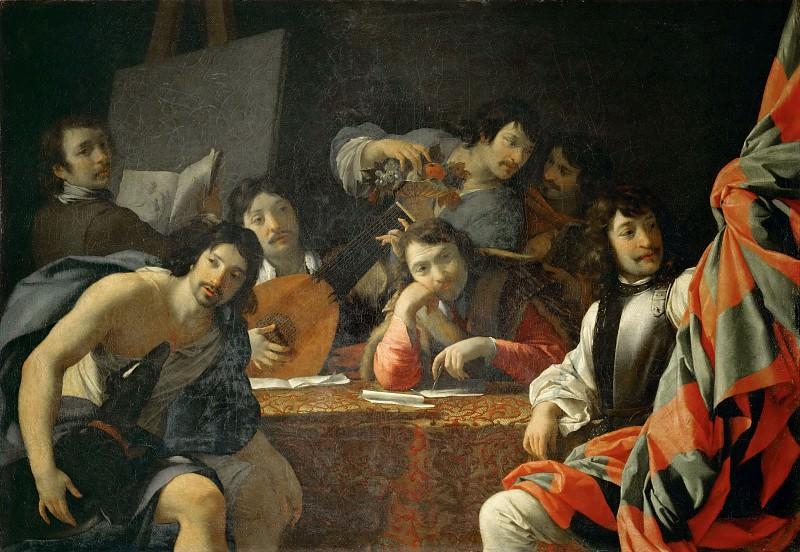 Eustache Le Sueur (1616-1655) -- Reunion of Friends. Part 2 Louvre